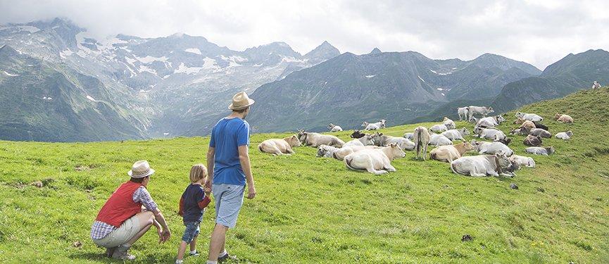 superbagnères et randonnée en famille