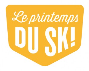 Logo printemps du ski vert